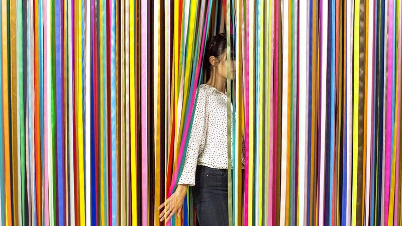 THE COLOR FACTORY_installation with colorful stripes